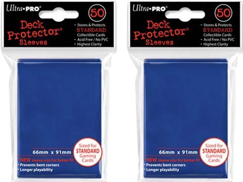 (100x) Ultra PRO Blue Deck Protectors Sleeves Standard MTG Colors