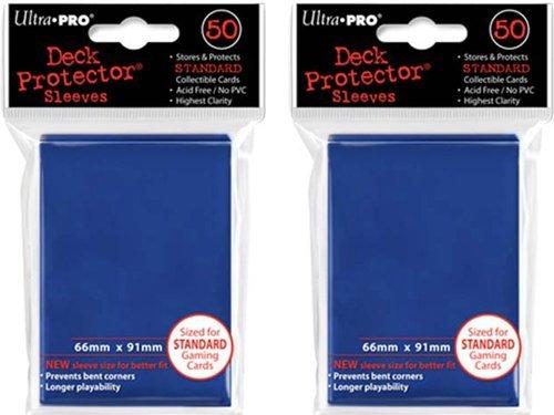 (100x) Ultra PRO Blue Deck Protectors Sleeves Standard MTG Colors - 1