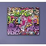 Tableau Graffiti 40 x 40 cm - Deco Soon