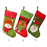 Magideal Christmas Stocking Sock Snowman Hanging Gift Bag Xmas Decor Christmas Santa