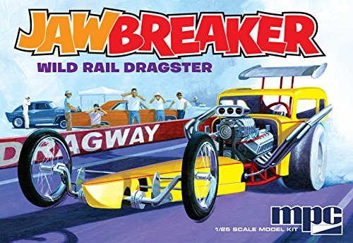 MPC 1/25 Scale, JAWBREAKER, Wild Rail Dragster, Model Car Kit, MPC821 (Dragster Model Kits compare prices)