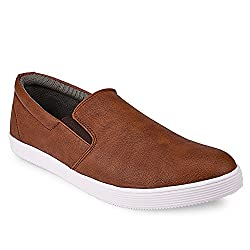 Backmesh Mens' Trendy Tan Casual Loafer Shoes Size:- 7 UK/IND
