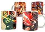 Disney's Star Wars Luke Skywalker vs Darth Vader and Hans Solo vs Boba Fett Ceramic Mug, Set of 4