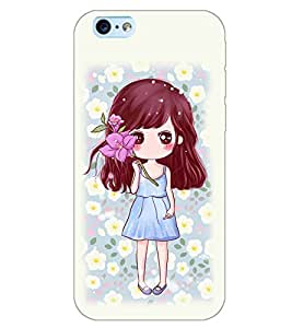 PrintDhaba CUTE GIRL D-6980 Back Case Cover for APPLE IPHONE 6S (Multi-Coloured)