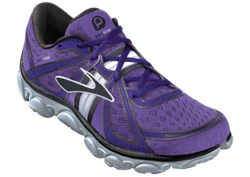Brooks Womens PureFlow Running Shoes Color: NeonPurple/NeonBlue/Black Size: 11.5