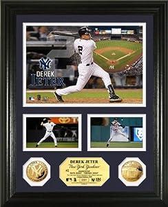 Derek Jeter Framed New York Yankees Gold Coin