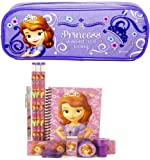Disney Princess Sofia Pencil Case with Stationery Set - Lavender