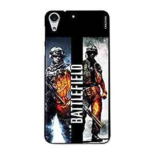 CrazyInk Premium 3D Back Cover for HTC 728 - Battlefield Game