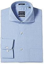 Arrow Men's Formal Shirt (8907378509116_ASSF0122_42_Medium Blue)