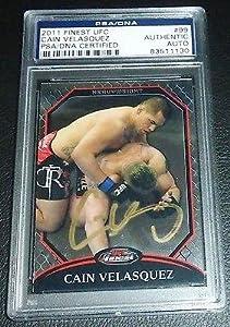 Cain Velasquez Signed UFC 2011 Topps Finest Card #99 COA Autograph MMA - PSA/DNA Certified - Autographed UFC Cards