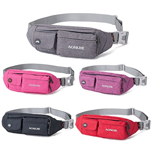 WATERFLY-Water-Resistant-Waist-Bag-Fanny-Pack-Hip-Pack-Bum-Bag-for-Man-Women-Sports-Travel-Running-Hiking-Money-iPhone-6-6S-Plus-Samsung-S5-S6