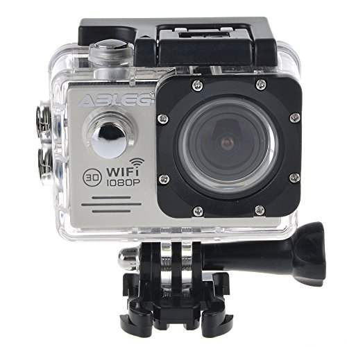 """ABLEGRID® SJ5000 WIFI Novatek 96655 12MP 2.0"""" LCD 1080P 170 Degree Wide Angle Sport Action Camera Waterproof Cam DV Camcorder Outdoor for Bicycle Motorcycle Diving Swimming Sliver with Free Accessories Kit"""