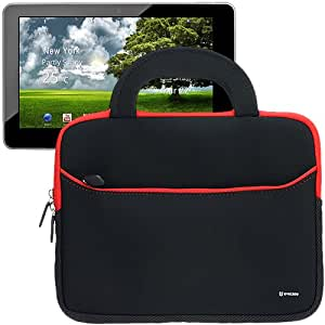 Evecase® Ultra-Portable Universal Neoprene Carrying Sleeve for Tablets and Laptops such as Kocaso M1050, M1050S, M1052S, M1060, M1061, M1062, NB1006A, NB1006S, NB1016 10.1-INCH Android Tablet - Black