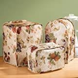 Antique Fruit Appliance Vinyl Cover, 2 Slice Toaster Cover - 11.75