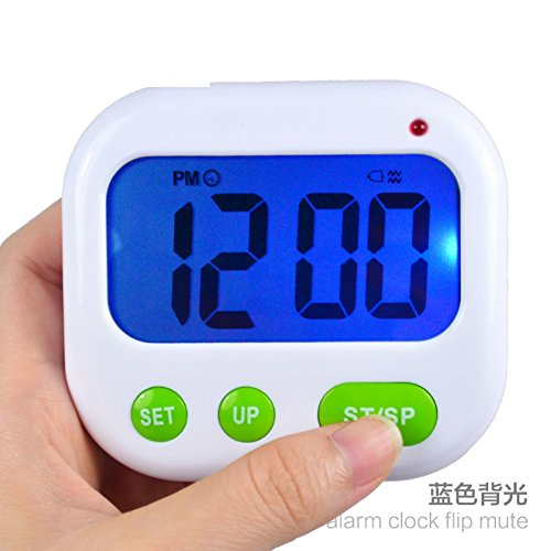 Luminous vibrations reminder alarm/ portable alarm clock-blue