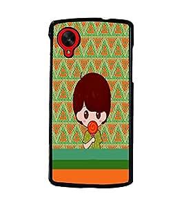 PrintDhaba Cartoon D-4230 Back Case Cover for LG GOOGLE NEXUS 5 (Multi-Coloured)