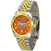 "Illinois Fighting Illini NCAA AnoChrome ""Executive"" Mens Watch"
