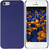 mumbi Schutzhülle iPhone 5 5S Hülle (harte Rückseite) matt blau