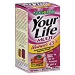 Nature's Bounty Your Life Multi Multivitamin/Multimineral Specialty Formula, Women's 45+, High Potency, Tablets, 90 ct.