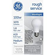 GE Lighting 72527 Incandescent Rough Service Light Bulb-100WATT ROUGH SERVICE