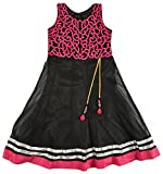 New Kings Collection Girls' Silk Dress (13, Black, 3-4 Years)