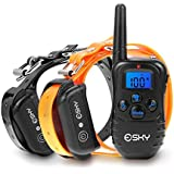 (2015 Upgraded With LED backlight)Esky Dog training Collar EP-998DR-300B4 1 for 2
