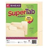 Smead SuperTab� File Folder, Oversized 1/3-Cut Tab, Letter Size, Manila, 24 Per Box (11920) ~ Smead