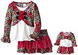 Dollie & Me Little Girls Rose Printed Skirt Set