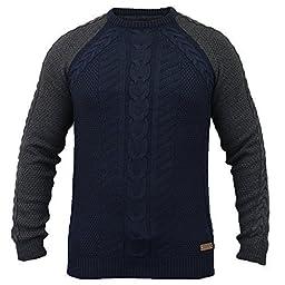 Men\'s Jumper Knitted Threadbare IMT062 Navy Large