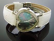 Swiss Aqua Master Lady Style Heart 0.50ct Diamonds Pink Face Watch