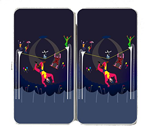"""""""Acrobats At Circus"""" Colorful Artwork - Taiga Hinge Wallet Clutch front-1061628"""