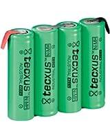 Tecxus Pile rechargeable Ni-MH Format AA 4,8 V / 2100 mAh Lot de 4 (Import Allemagne)