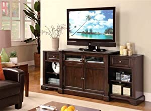 ENTERTAINMENT WALL UNIT TV STAND HIDDEN SLIDE OUT END UNITS
