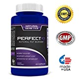 Natural Genetics PERFECT 10 Natural Fat Burner Energy Booster Promotes Fat Metabolism Weight Loss Best Dietary Supplements,Unisex 60 Capsule, Made in USA