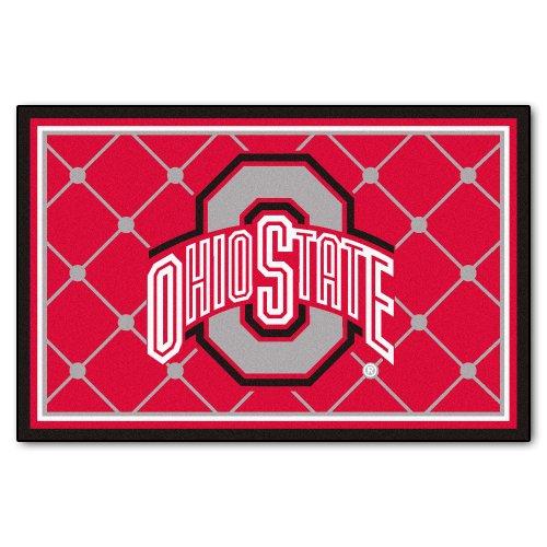 Fanmats Ncaa Ohio State University Buckeyes Nylon Face 5X8 Plush Rug front-606561