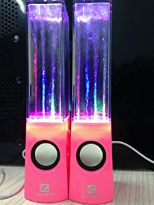 SoundSOUL Music Fountain Mini Amplifier Water Speakers I-station7 Apple Speakers (Pink)