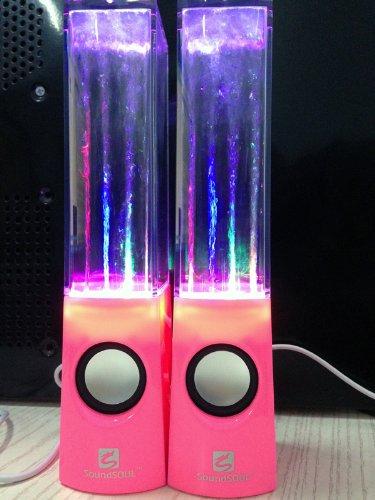 Soundsoul Music Fountain Mini Amplifier Dancing Water Speakers I-Station7 Apple Speakers (Pink)