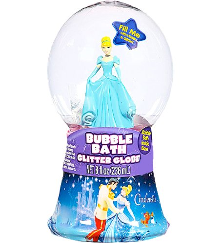 Disney Princess Cinderella Bubble Bath Glitter Globe (8 inches) Featuring Cinderella - 1