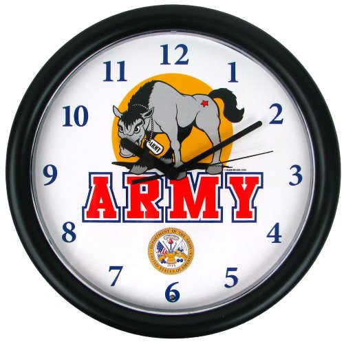 NCAA Deluxe Chiming U.S. Army Clock Featuring Mule Mascot