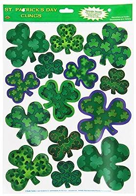 Irish-Mood Shamrock Glass - Window Clings 12in. x 17in. Sheet by PMU