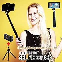 F-EYE® Selfie Stick for Smartphone, Bluetooth Monopod, built-in Remote Shutter With Tripod Stand and Adjustable Mobile Holder For iPhones & Android phones