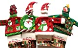 Set of 4 Knit Ugly Sweater Wine Bottle Covers Christmas Decor