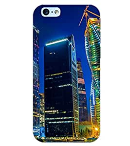 PrintDhaba SUPER CITY D-6493 Back Case Cover for APPLE IPHONE 6 PLUS (Multi-Coloured)