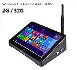 タブレット, Tablet computer,Mini PC, TV box, original PIPO X8 Mini PC Intel Z3736F Quad Core Windows 10 &Android 4.4 Dual OS TV BOX 2GB / 32GB TV Box 7 Inch Screen