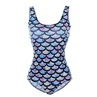 Amazon.com: Lady Queen Women's Mermaid Flakes One-piece