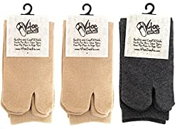 V-Toe Khaki & Gunmetal Grey Tabi Flip Flop Socks