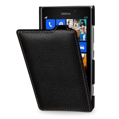 Esclusiva custodia Stilgut UltraSlim in vera pelle per Nokia Lumia 925 in nero