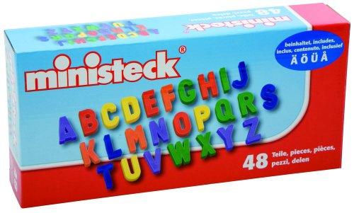 Imagen principal de Ministeck 33714 - 48 letras mayúsculas magnéticas [importado de Alemania]