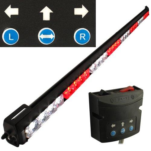 "Lamphus Solarblast 36"" Led Emergency Vehicle Traffic Advisor Warning Strobe Directional Light Bar ( Other Color Available ) - Red White Red White"