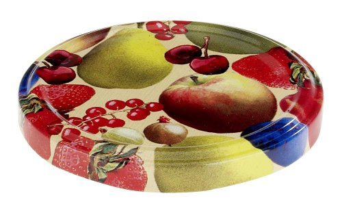 Westmark 40802230 Couvercles à Visser avec Motif Fruits Métal Multicolore 82 mm 10 Pièces